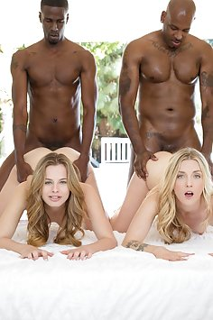 Jillian Janson & Karla Kush have interracial foursome