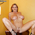 Kelly Madison in fishnet top - image