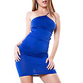 Dillion Harper in blue dress - image