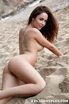 Playboy: Adrienn Levai nude at beach