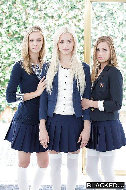 School girl orgy