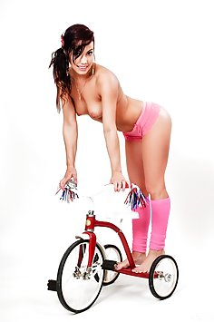 Teen Shana Lane nude on bicycle