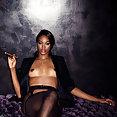 Playboy Playmate Eugena Washington smoking cigar - image