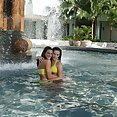 Wet lesbians Kate Ground & Misty Anderson - image