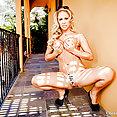 Cherie DeVille nude sunbathing - image