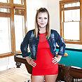 Team Skeet Teen Pies: Willow Winters creampie on pool table - image