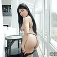 Exotic 4K: Ember Snow interracial - image
