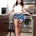 Naughty America & My Sister's Hot Friend: Julz Gotti kitchen sex - image