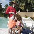 BangBros Brown Bunnies: Cecilia Lion interracial with pool boy - image