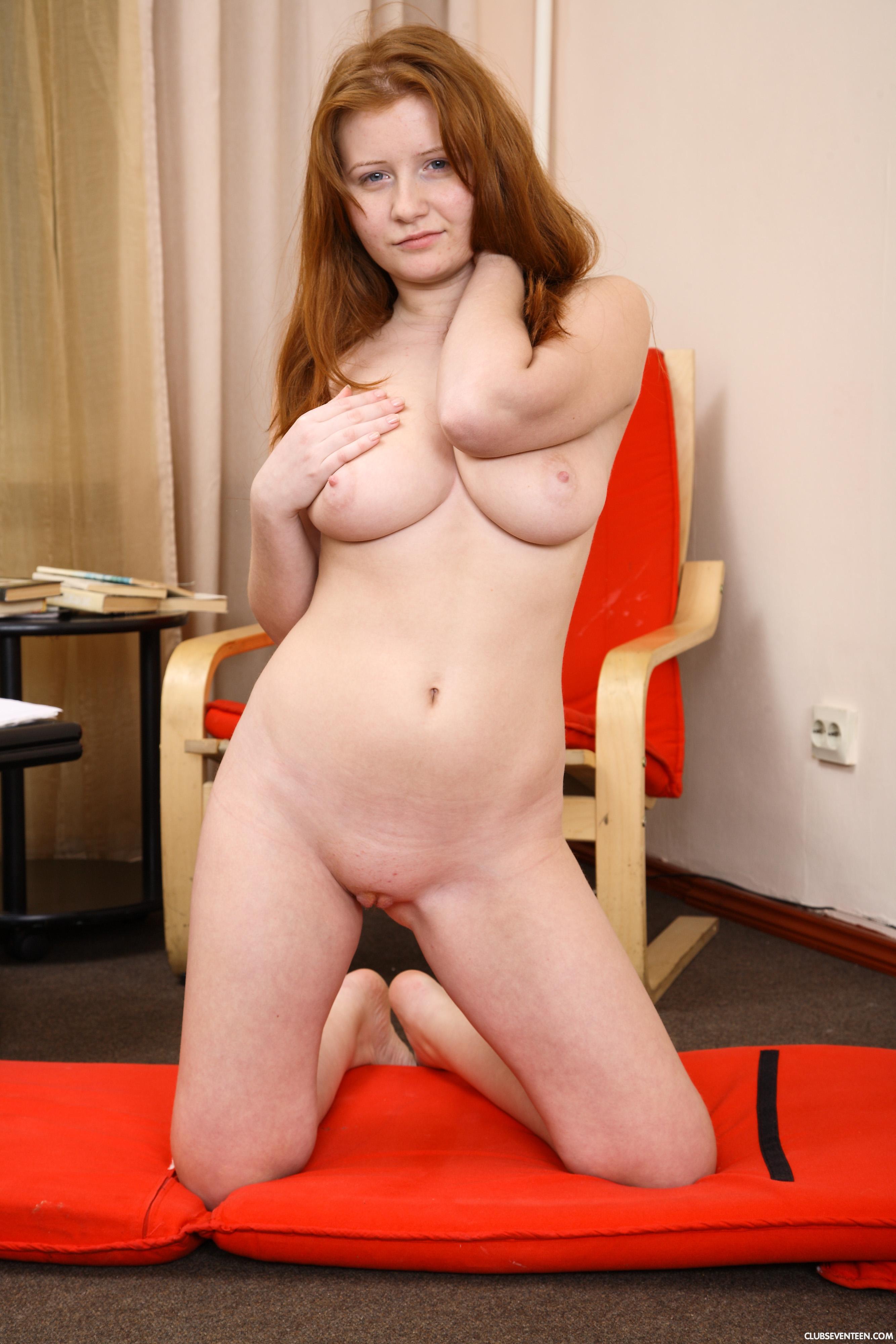 Busty Natural Redhead
