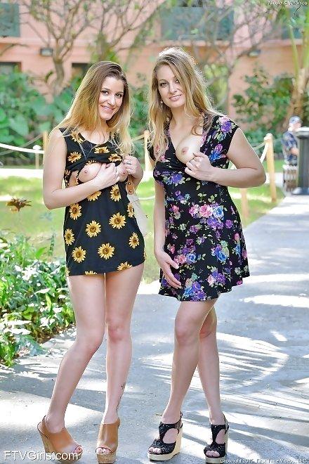 FTV Girls: Nicole & Veronica Weston public pussy flashing