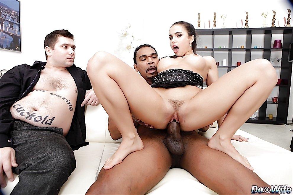 Amateur White Wife Interracial
